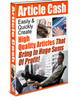 Article Cash with plr