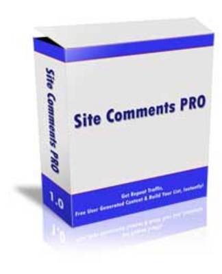 Product picture Site Comments Pro with mrr